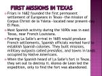 first missions in texas
