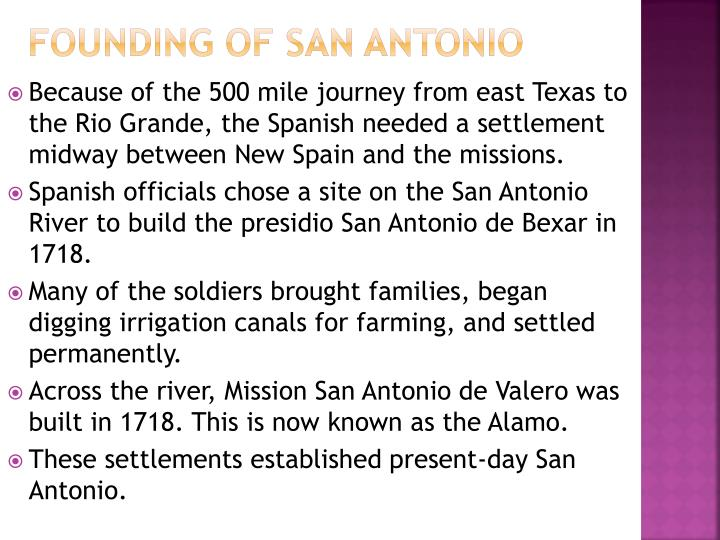 Founding of San Antonio
