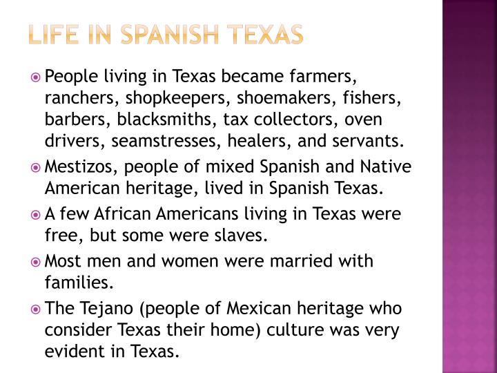 Life in Spanish