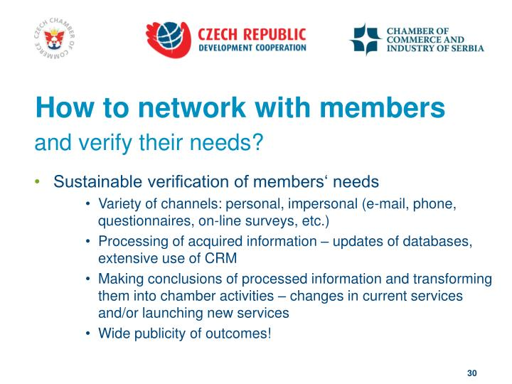 How to network with members