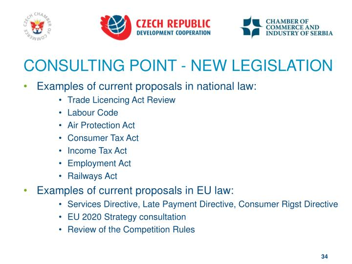 CONSULTING POINT - NEW LEGISLATION