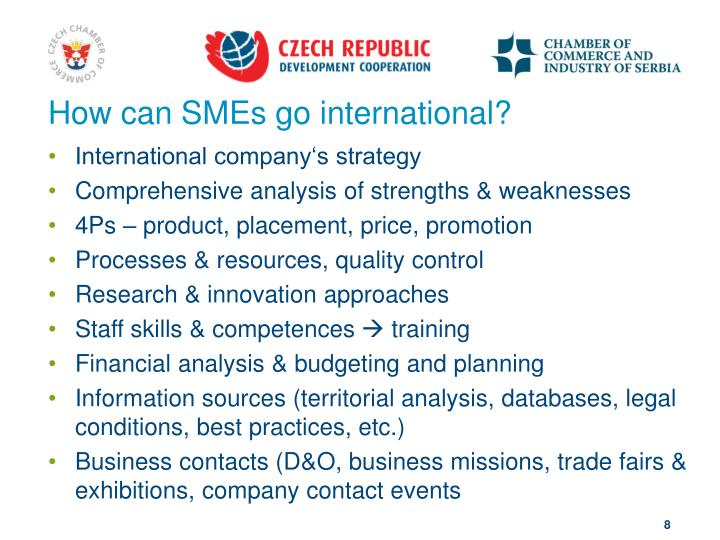 How can SMEs go international?