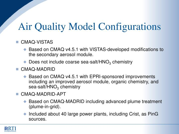 Air Quality Model Configurations