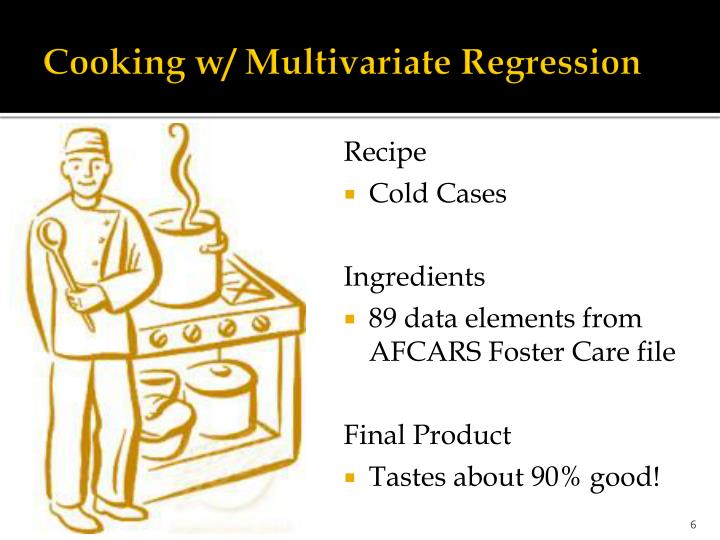Cooking w/ Multivariate Regression