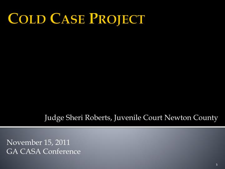 Judge Sheri Roberts, Juvenile Court Newton County