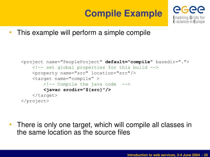 Compile Example