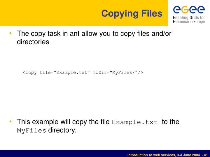 Copying Files