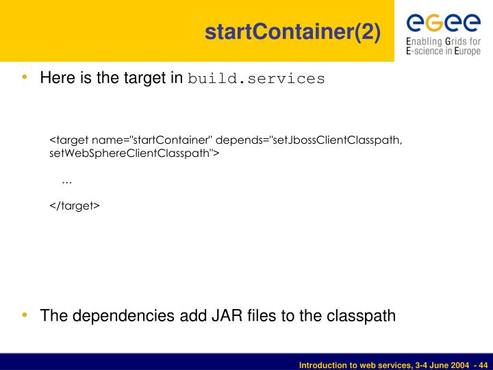 startContainer(2)