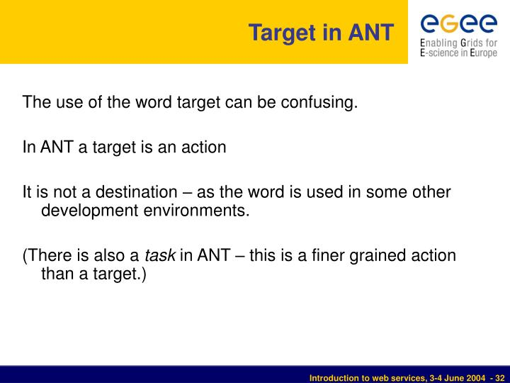 Target in ANT