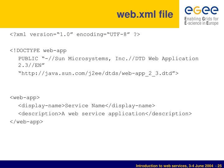 web.xml file