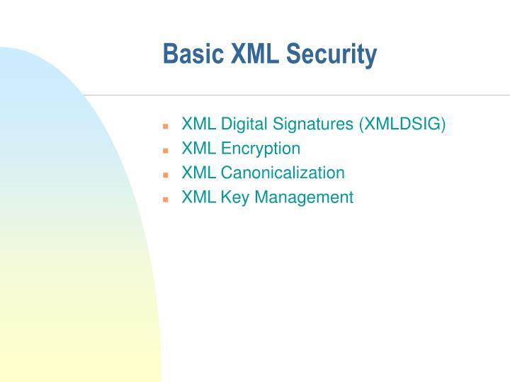 Basic XML Security