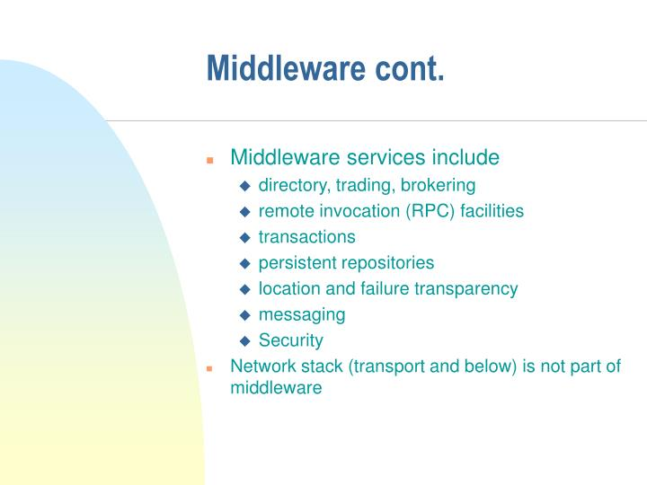 Middleware cont.
