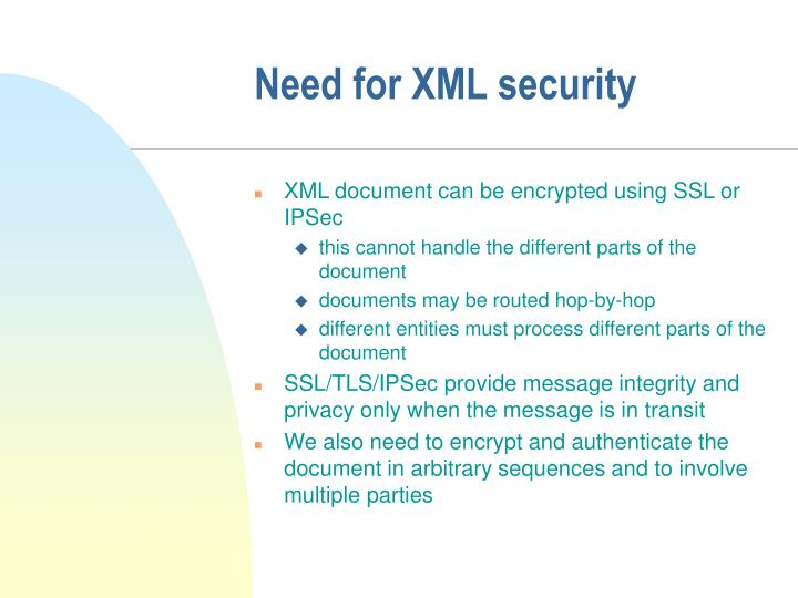 Need for XML security