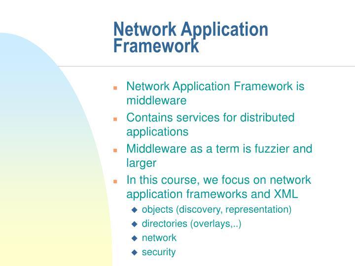 Network Application Framework