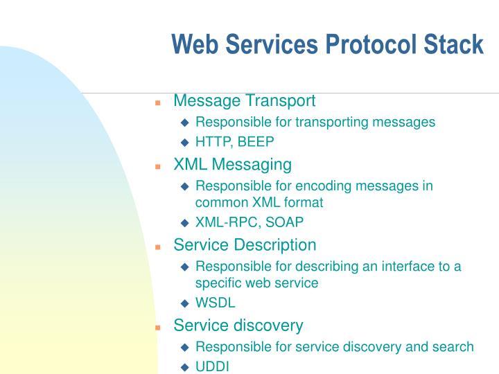 Web Services Protocol Stack