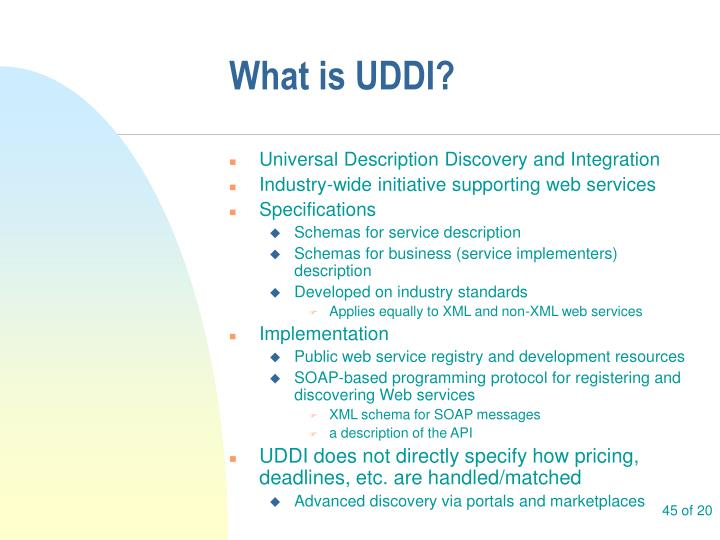 What is UDDI?