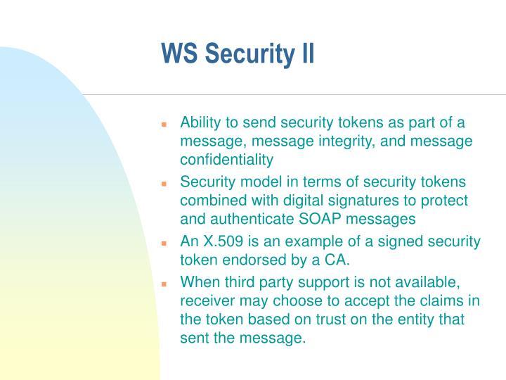 WS Security II