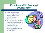 functions of professional development1