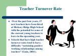 teacher turnover rate