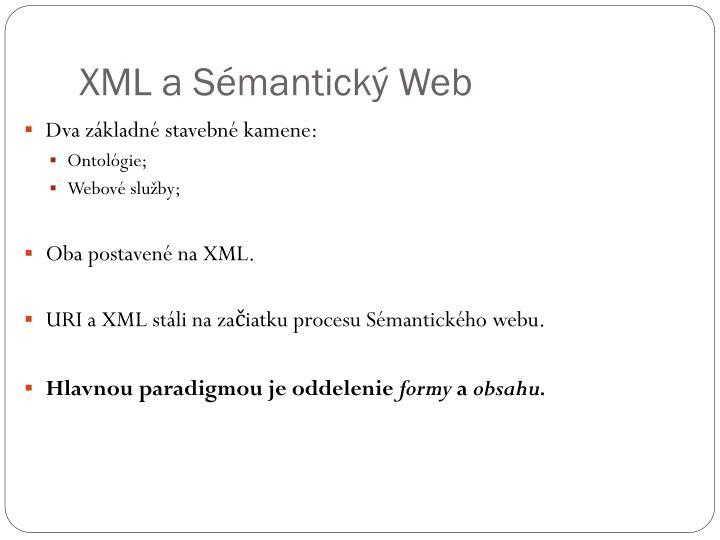 XML a Sémantický Web