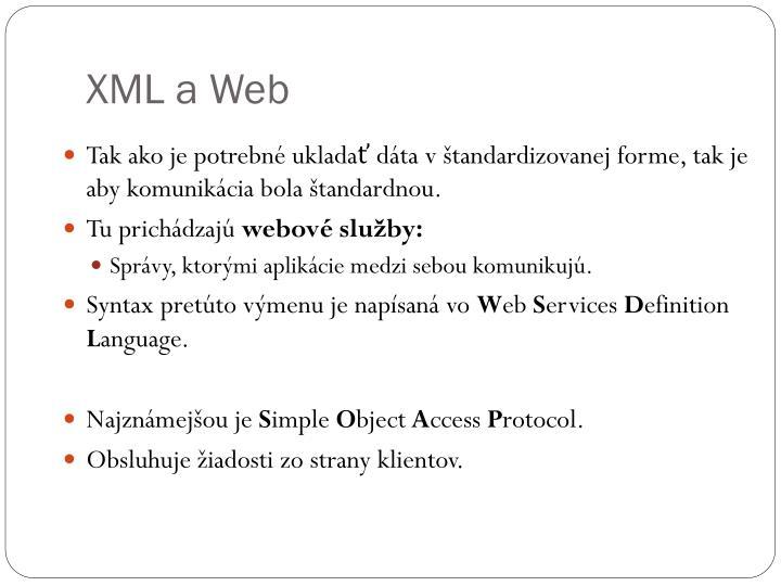 XML a Web