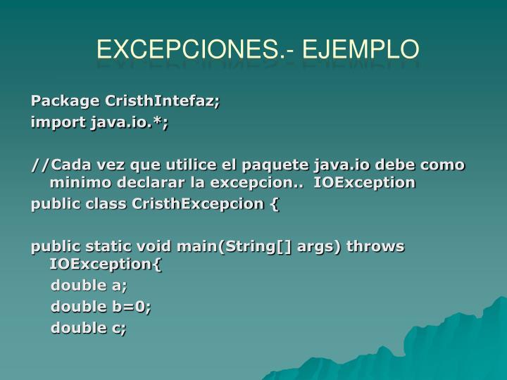 Excepciones