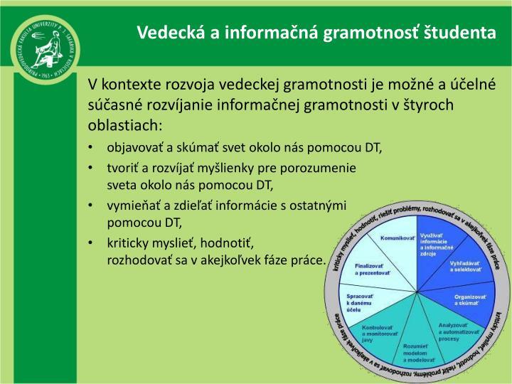 Vedecká a informačná gramotnosť študenta