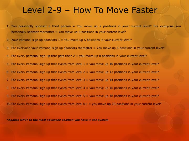Level 2-9 – How To Move Faster