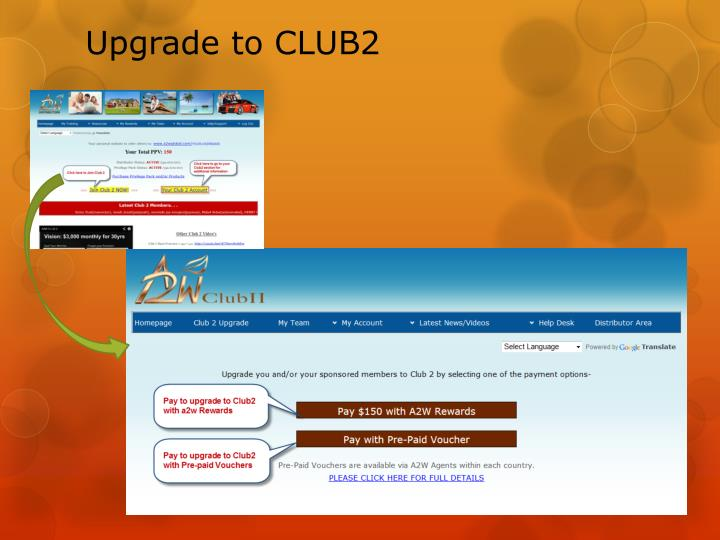 Upgrade to club2