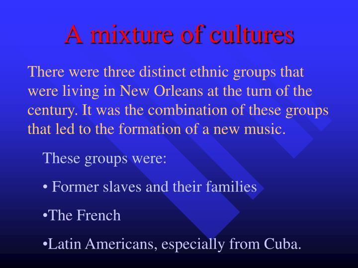 A mixture of cultures