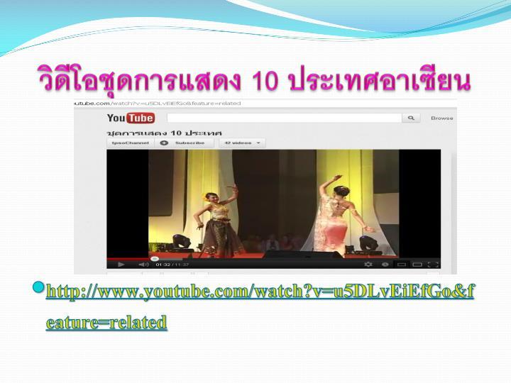 วิดีโอชุดการแสดง 10 ประเทศอาเซียน