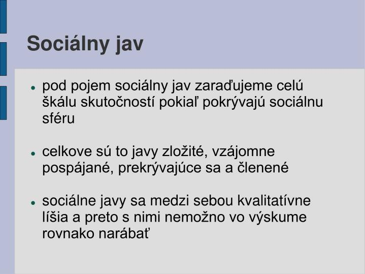 Sociálny jav