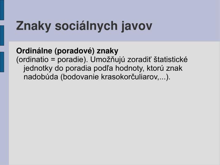 Znaky sociálnych javov