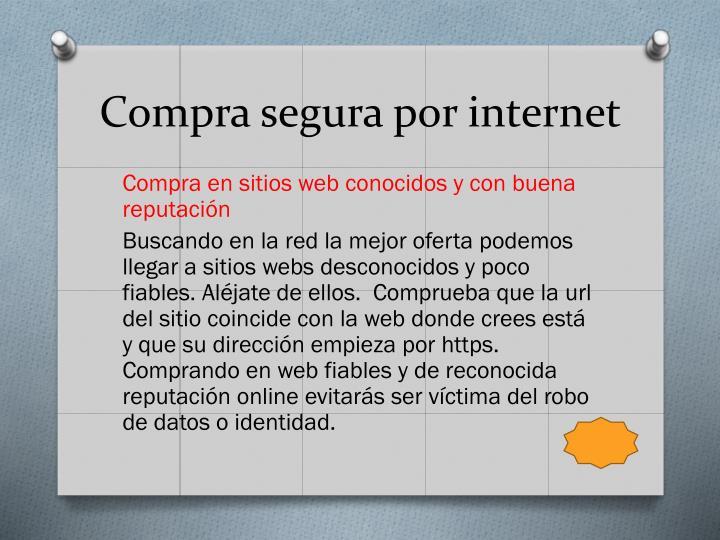 Compra segura por internet