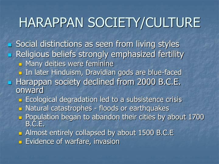 HARAPPAN SOCIETY/CULTURE