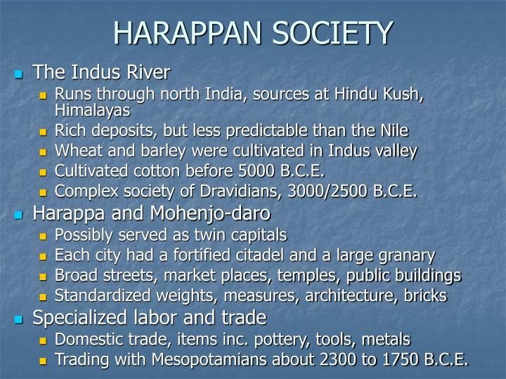 HARAPPAN SOCIETY