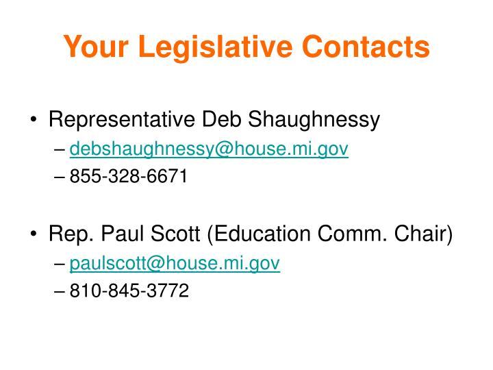 Your Legislative Contacts