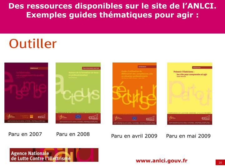 Des ressources disponibles sur le site de l'ANLCI.