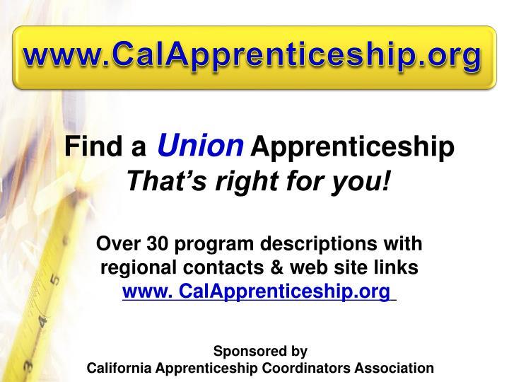 www.CalApprenticeship.org