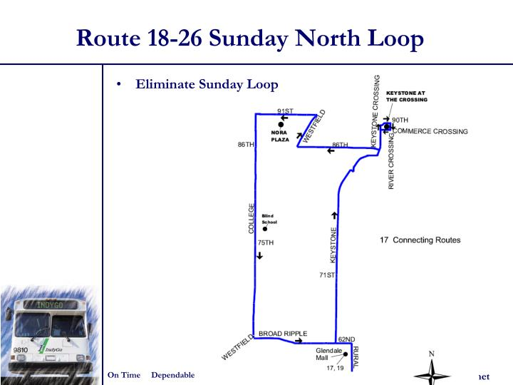 Route 18-26 Sunday North Loop