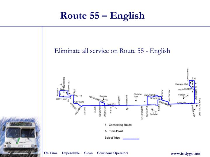 Route 55 – English