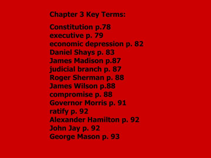 Chapter 3 Key Terms: