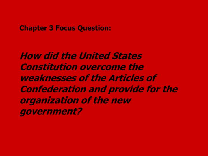 Chapter 3 Focus Question: