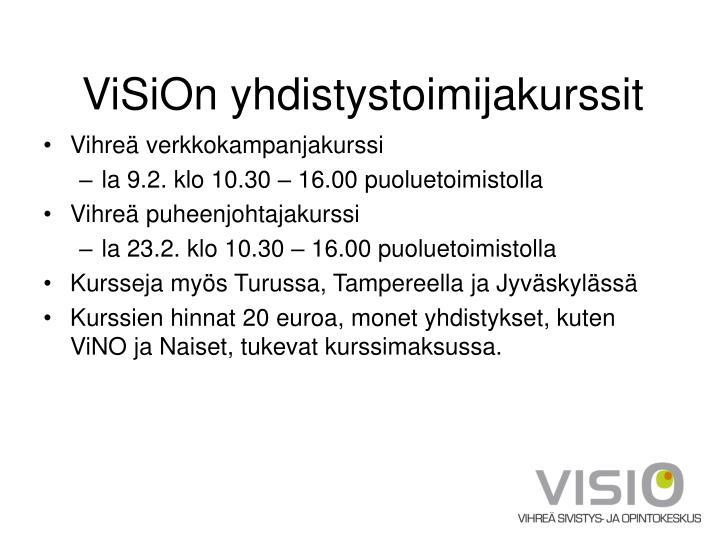 ViSiOn yhdistystoimijakurssit