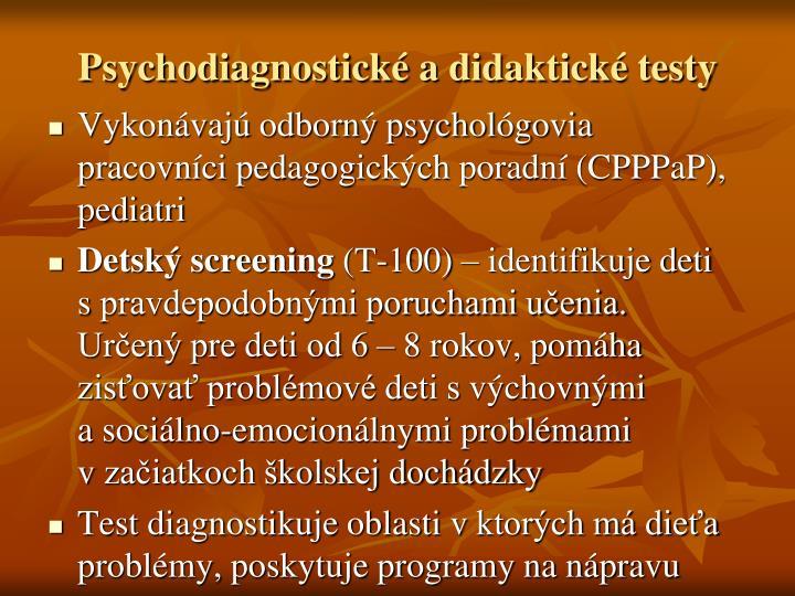 Psychodiagnostické adidaktické testy