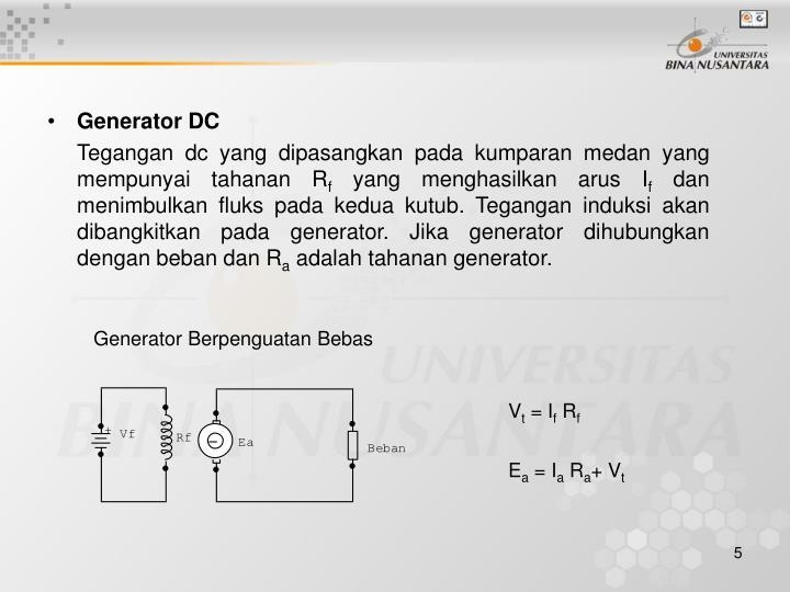Generator DC