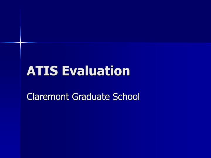 ATIS Evaluation