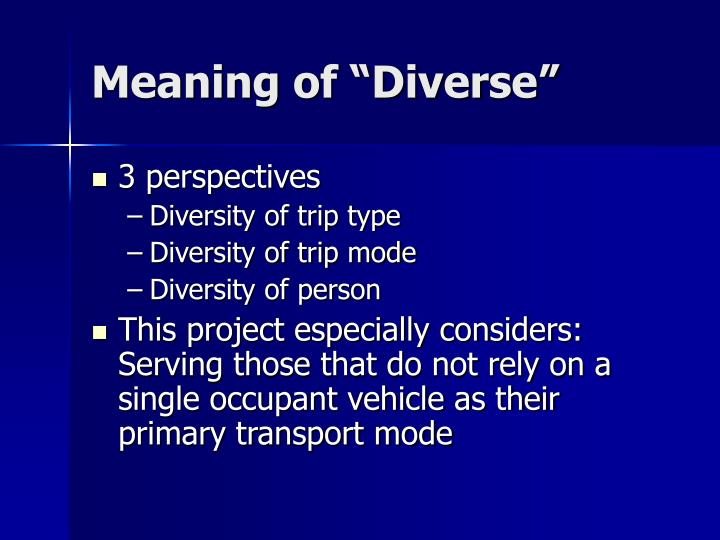 """Meaning of """"Diverse"""""""