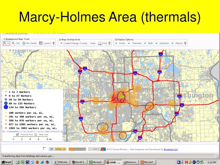 Marcy-Holmes Area (thermals)