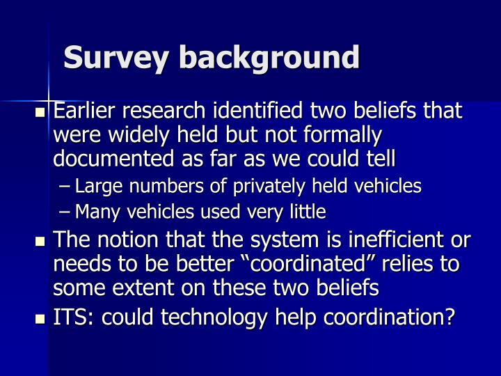 Survey background